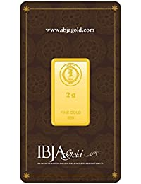 IBJA Gold 24k (999) 2 gm Yellow Gold Bar
