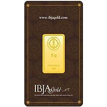 IBJA Gold 2 Gm, 24K (999) Yellow Gold Precious Bar