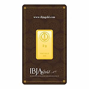 IBJA Gold 2 Gm, 24K (999) Yellow Gold Precious Bar