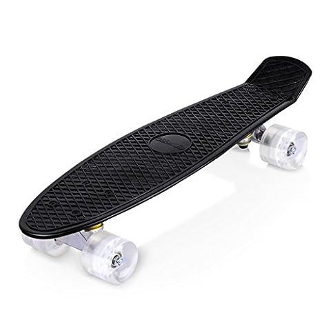 Enkeeo Planche à Roulettes Skateboard Cruiser en plastique avec plate-forme
