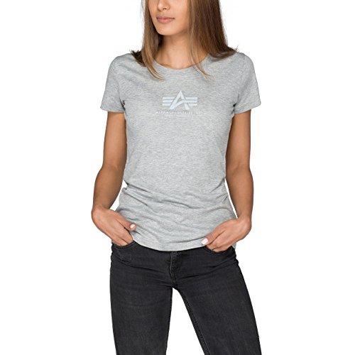 Alpha Industries Damen Oberteile/T-Shirt Basic T Wmn Grey Heather