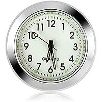 Reloj del coche Reloj digital para automóvil Tablero del coche Reloj pequeño y redondo Reloj de