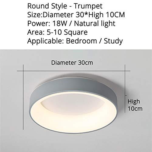 WSYYWD Lámpara de dormitorio con lámpara led personalidad creativa luz led en la lámpara de techo