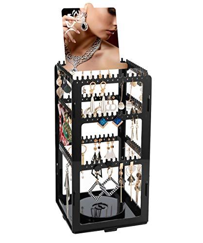 er Ohrringhalter 276 Löcher 360° drehende ohrring ständer, ohrring Organizer Schmuckhalter Ohrschmuck-Display Schmuckhalter für Ohrringe Ketten Armband - 30x15x15cm Ohrstecker ()