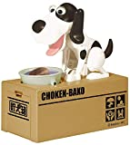 Emob Hungry Robotic Stealing and Munching Dog Piggy Coin Bank Toy for Kids