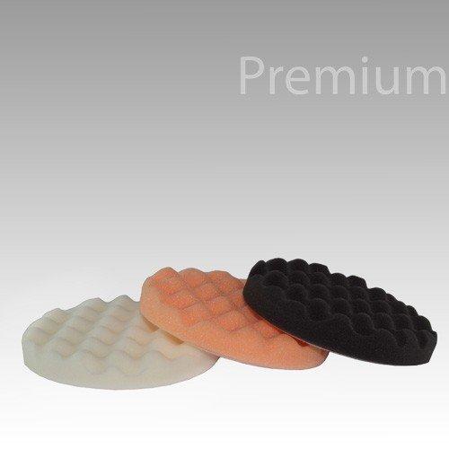 Premium Polierschwamm Set universal Ø 125mm gewaffelt Kombi
