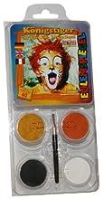 Eulenspiegel 204450 - Kit Trucco da Tigre del Bengala, 4 Colori, incl. pennelli e Istruzioni [ EN, DE, FR ]