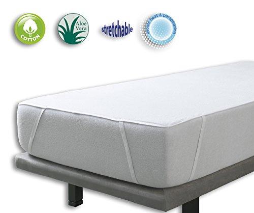 VELFONT – Matratzenschoner Aloe Vera, wasserdicht und atmungsaktiv und mit 4 Gummibändern – verfügbar in verschiedenen Größen - 200x190/200cm