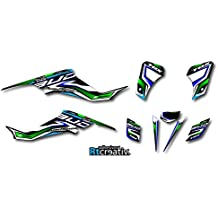 ENVIO 24H Adhesivos plastificados SUZUKI LTZ 400 BUD Racing quad vinilos pegatinas graficos (verde)