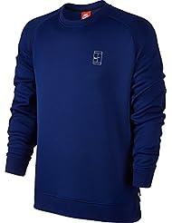 Nike Nikecourt Fleece Crew - Sudadera para hombre, color azul, talla 3XL