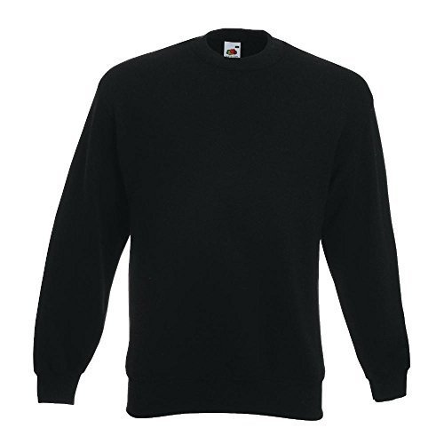 Fruit of the Loom - Sweatshirt \'Set-In\' 3XL,Black