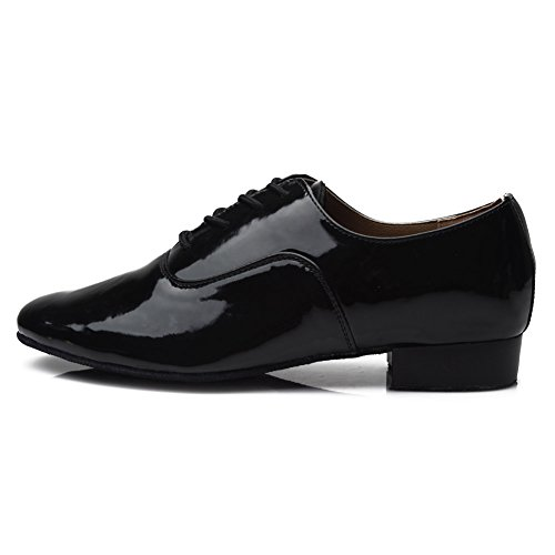 HROYL Zapatos Estándar de Danza Latina/Jazz Cuero 703 45 EU