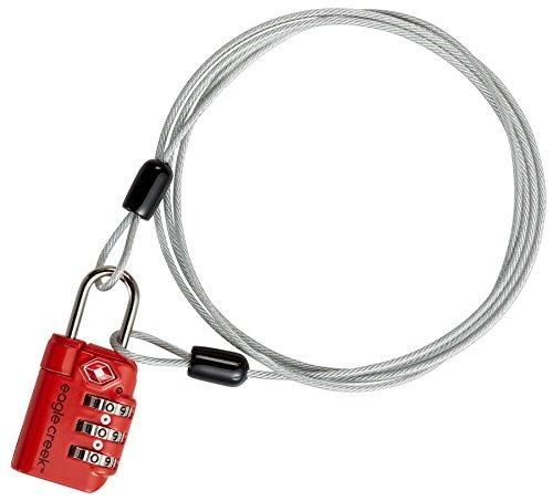 Eagle Creek 3-Dial TSA Lock & Cable Drahtseilschloss Reisegepäck Zahlenschloss -