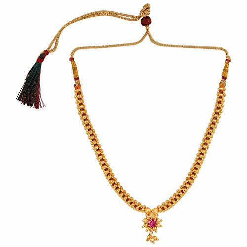 Archi Collection Ethnic Traditional Gold Plated Thushi Maharashtrian Necklace Jewellery for Women
