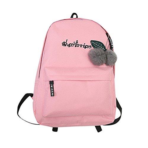 OYSOHE Unisex Rucksack, Mode Neutral Segeltuch Rucksack Tasche Schulter Leinwand Schule Mädchen Junge Handtasche (one size, ZA-Rosa)