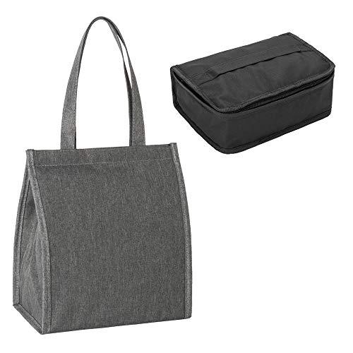 YELAIYEHAO Bolsas de almuerzo para hombres y mujeres - Bolsa de almuerzo aislante impermeable para la escuela, oficina, al aire libre y picnic con 1 bolsa térmica portátil para el almuerzo
