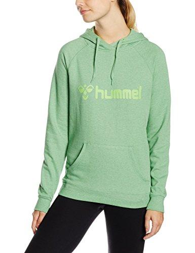 Hummel Damen Sweatshirt Classic Bee Hoodie Green Flash Melange XS