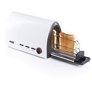 Princess 142331 Tunnel Toaster (950 Watt, 7 Stufen, autom. Auswurf, Aufwärm- und Auftaufunktion) weiß