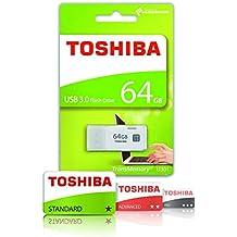 Toshiba THN-U301W0640E4 - Memoria USB 3.0 de 64 GB, color blanco