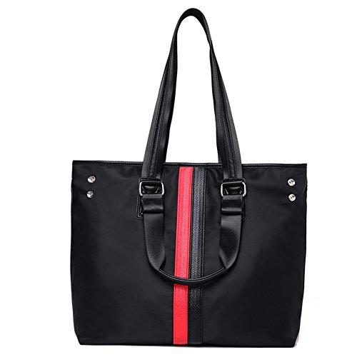 Ladies singola borsa a tracolla,borsetta,borsa di tela-nero nero