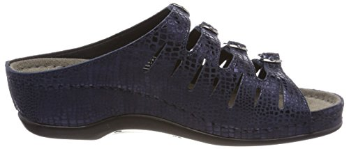 Berkemann Hassel, Pantofole Donna Blau (Blau Metallic)