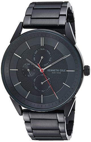 Kenneth Cole New York Men's Quartz Stainless Steel Casual Watch, Color:Black (Model: KC50191003)