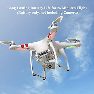 Heraihe 5600mAh Flight Battery for DJI Phantom 2 DJI Phantom 2 Vision+, Large Capacity Intelligent Aircraft Battery Drone Accessories Designed Flying Device Lithium Battery