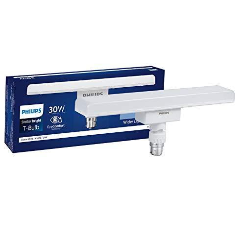 Philips Lighting India Base B22 LED T-Bulb (Crystal White, 30W)