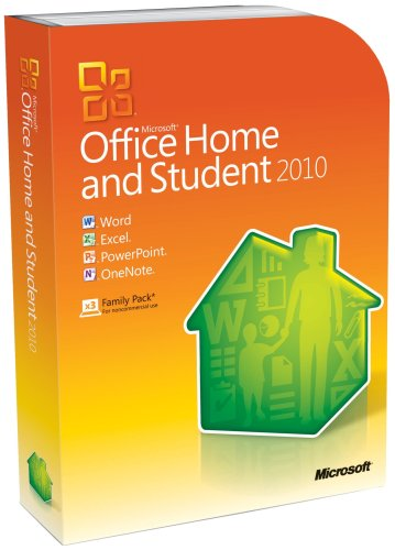 Microsoft Office Home & Student 2010 - 3Pc, 1User (DVD)