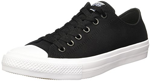 Converse Chuck Taylor All Star Ii Low, Baskets Mixte Adulte Noir (Black/white/navy)