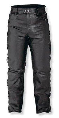 A-pro Pantalón de piel para motociclismo Senkel Custom Chopper Touring, 5bolsillos, color...
