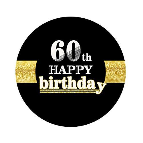 Amosfun 12pcs 60. Happy Birthday Sticker 60. Geburtstag Dekorationen liefert Party Favors