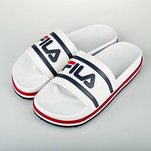 Fila Morro Bay Zeppa F W Chanclas White Stripe