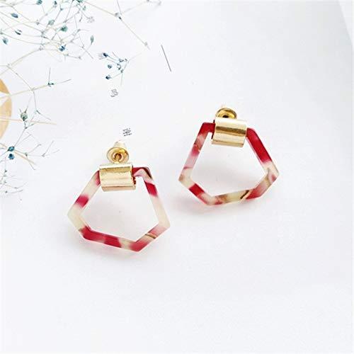 FUKAI Luxuriöse Einfache Ohrringe Mode Einfache Ideen Unregelmäßige Geometrische Persönlichkeit Stiftung Ohrstecker Ohrringe Party Hochzeit Damen Zubehör (Alltags-stiftung)