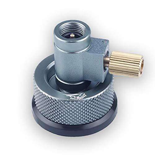 Sairis New Portable Propan Refill Adapter Aluminiumlegierung Gasflasche Tank Koppler (Farbe: Silbergrau) - Propan-tank-refill