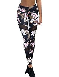 Pantalon de Yoga femmes,Jimma® Fleurs imprimées yoga leggings fitness jogging sport Stretch pantalon