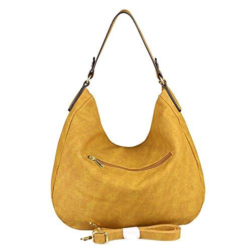 Obc Ladies Bag Shopper Hobo Bag Tote Bag Tracolla Tracolla Borsa Crossover Bag Crossbag Borsa Da Viaggio Borsa Da Viaggio Buoy Bag (blu Scuro 35x29x10 Cm) Giallo 40x33x13 Cm