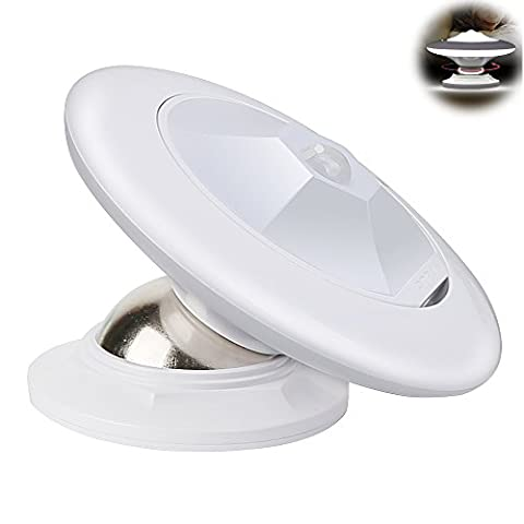Motion Sensor Wardrobe Light ,USB Rechargeable 30 LED Cordless Motion Activated Instant ON/OFF Lamp by Geekeep, Rotating Removable Magnet Stick-On Anywhere, Wireless Under Cabinet Counter Cupboard Closet Stairs Stairway Kitchen Drawer Hallway Step Garage Shed Bath Wall Camping Emergency LED Night Light Bed Lighting