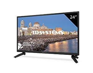 Téléviseur 24 Pouces LED Full HD Smart TD Systems K24DLH8FS. Résolution 1920 x 1080, HDMI, VGA, 2X USB, Smart TV.