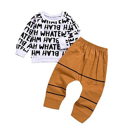 EFINNY Jungen Kleidung Sets Brief Print T-Shirt + Lange Hosen 2 Stück Baby Outfits Trainingsanzug für 1-5 Jahre -