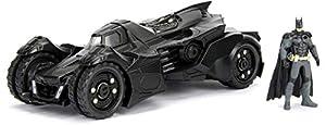 Jada Toys-Batmobile-Batman Arkham Knight-con Figura-2015Coche de ferrocarril de Collection, 98037bk, Negro