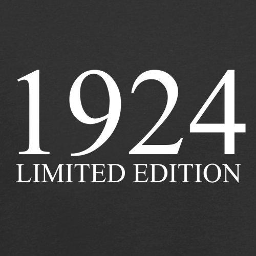 1924 Limierte Auflage / Limited Edition - 93. Geburtstag - Herren T-Shirt - 13 Farben Schwarz