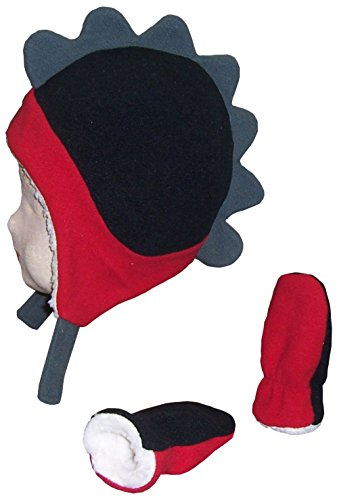 nice-caps-boys-soft-sherpa-lined-micro-fleece-dino-hat-and-mitten-set-12-18mos-infant-red-black-char