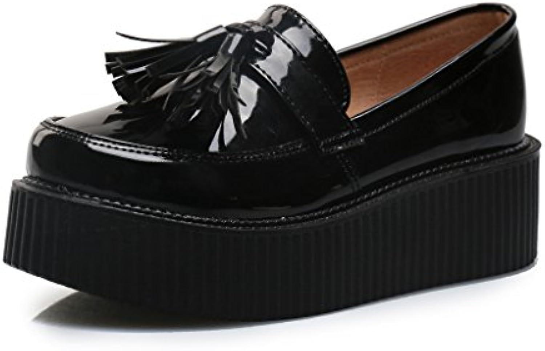 RoseG Femmes Vogue Frange Plate plateforme plateforme Plate Mocassins Loafers ChaussuresB00K51NYBGParent 86a832
