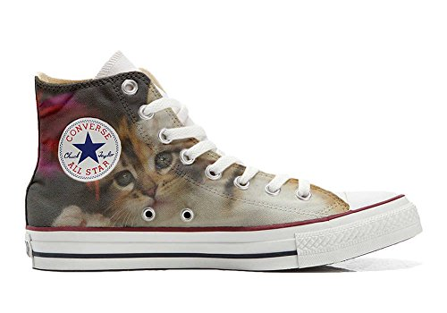Converse Customized Adulte - chaussures coutume (produit artisanal) Kitty