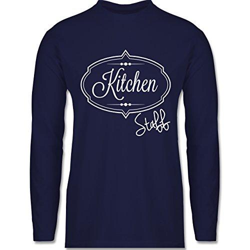 Shirtracer Küche - Kitchen Staff Küchenhelfer - Herren Langarmshirt Navy Blau