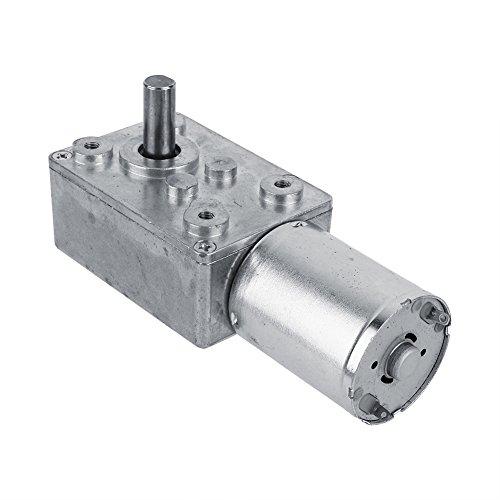 Akozon Getriebemotor Reversible Hochdrehmoment Turbo Schnecke Getriebe Gleichstrommotor DC 12V Metall Geschwindigkeitsreduzierung Elektromotor 5/6/20/40/62 (U/MIN) (62RPM) (12v Getriebemotor)