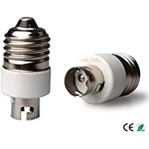 E-Simpo ® 6-Pack E27a BA15D adaptador, conversor E27a casquillo BA15d, cerámica, Z1118