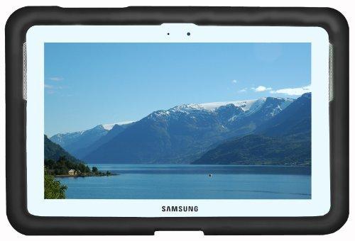 Bobj Silikon-Hulle Heavy Duty Tasche fur Samsung Galaxy Note 10.1 Tablet (nicht fur Galaxy Note 10.1 2014 Edition oder Galaxy Tab modelles) - BobjGear Schutzhulle - Schwarz