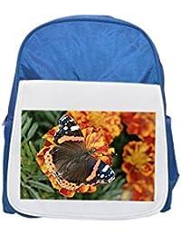 99502e2b1e Fotomax Red Admiral farfalla Vanessa Atalanta stampato zaino blu grande,  Lindo moda zaini, zaino